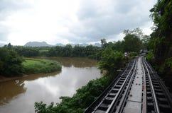 Flod Kwai i Kanchanaburi Royaltyfri Foto