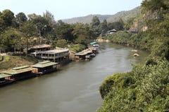 Flod Kwai i Thailand Royaltyfri Foto