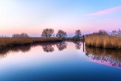 Flod Leda nära Potshausen Arkivbilder
