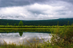 Flod Lena i Sibirien Fotografering för Bildbyråer