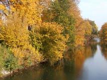 Flod Lippe på Lippstadt Arkivfoto