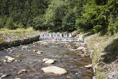 Flod med stenar Arkivfoton