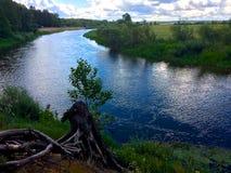 Flod Neman i Vitryssland Arkivbilder