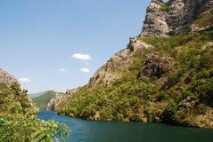 Flod Neretva nära Jablanica Fotografering för Bildbyråer