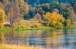 Flod Neris, Kernave Fotografering för Bildbyråer