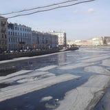 Flod Newa på St Petersburg Arkivfoto