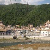 Flod- och bergsity Arkivfoton