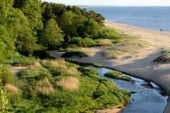 Flod och havet Royaltyfria Foton