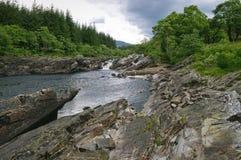 Flod Orchy Skottland Royaltyfri Fotografi