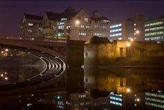 Flod Ouse i York och Aviva kontorsbyggnad Arkivbilder