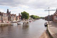 Flod Ouse, York Arkivfoton