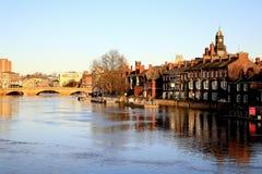 Flod Ouse, York Arkivbild