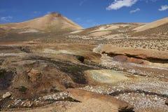Flod på Altiplanoen, Chile royaltyfria foton
