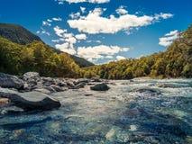 Flod på blå tips Arkivbilder