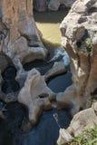 Flod på bourkesgroparna i Sydafrika Royaltyfri Foto