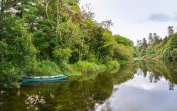 Flod på Cong Abbey, ståndsmässiga Mayo, Irland Royaltyfri Fotografi