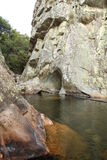 Flod på en valey Royaltyfri Foto