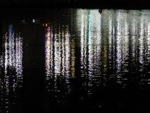 Flod på midnatt Royaltyfria Foton