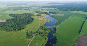 Flod på sikten för morgonfågelöga arkivfilmer