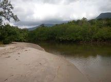 Flod på stranden royaltyfri fotografi