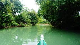 Flod på västra java Indonesien Royaltyfri Fotografi