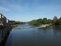 Flod Po i Turin Royaltyfria Bilder