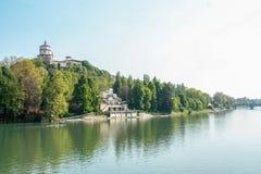 Flod Po på Turin Fotografering för Bildbyråer