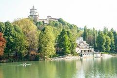 Flod Po på Turin Royaltyfri Foto