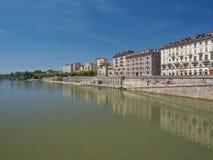 Flod Po Turin Fotografering för Bildbyråer