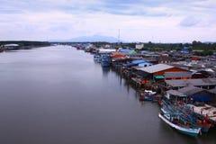 Flod Prasae Arkivfoto