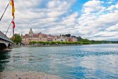 Flod Rhine på Constance Arkivfoto