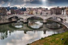 flod rome tiber arkivfoto