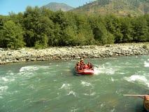 Flod Rufting Royaltyfria Foton