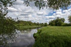 flod russia för kalugaprotvaregion Arkivfoto