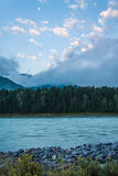 flod russia siberia för altaikatunregion Arkivbild