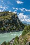 flod russia siberia för altaikatunregion Royaltyfri Fotografi