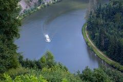 Flod Saarland Fotografering för Bildbyråer