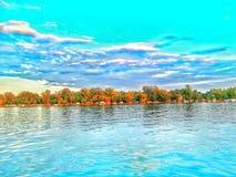 Flod Sava Serbia Royaltyfria Foton