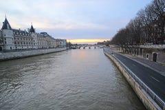Flod Sena i Paris Arkivfoto