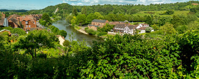 Flod Severn, Bridgnorth Arkivbild