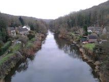 Flod Severn från järnbron arkivfoton