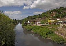 Flod Severn på Ironbridge Royaltyfri Fotografi