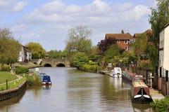 Flod Severn, Tewkesbury Royaltyfri Fotografi