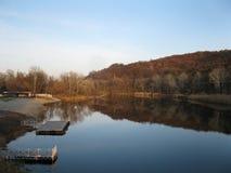 Flod Seversky Donets Ukraina Arkivbilder
