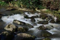 Flod Sid i Sidmouth arkivfoton
