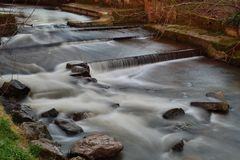 Flod Sid i Sidmouth arkivbilder