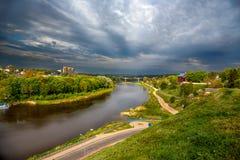 Flod Sog, Gomel Fotografering för Bildbyråer