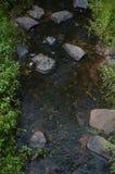Flod som flödar från en kulle Arkivfoto