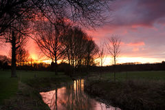 Solnedgång 15 Royaltyfri Bild