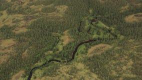 Flod som ses från luften stock video